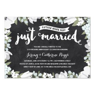 花の黒板|の第15結婚記念日 カード