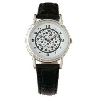 花の黒 腕時計