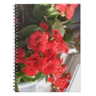 """""""花の""""写真のノート(80ページB&W) ノートブック"""