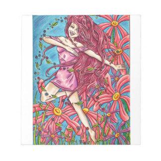 花の「喜び」の-妖精 ノートパッド