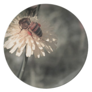 花の《昆虫》マルハナバチ プレート