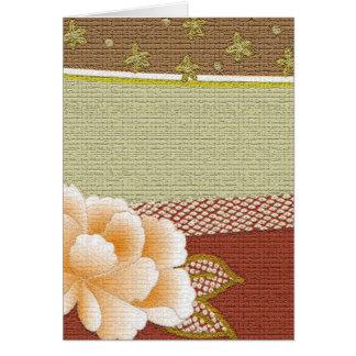 """花の""""着物""""のデザインのすべての行事カード カード"""