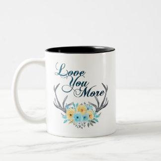 花の(雄ジカの)枝角のマグ愛して下さい ツートーンマグカップ