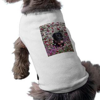 花のAbby -黒い実験室犬 ペット服