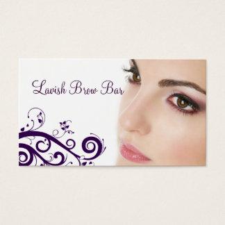 花のCosmetologyの名刺をきれいにして下さい(紫色) 名刺