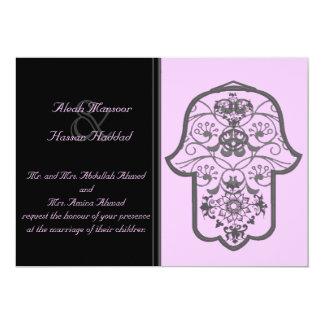 花のHamsa (オリジナル) (結婚式) カード