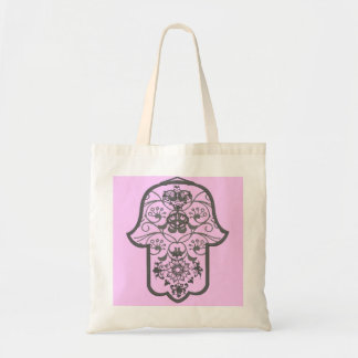 花のHamsa トートバッグ