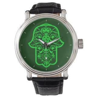 花のHamsa 腕時計
