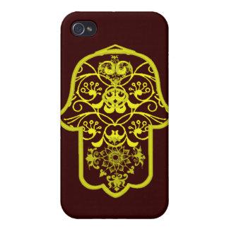 花のHamsa (黄色) iPhone 4/4Sケース