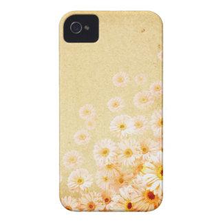 花のIphoneオレンジ敏感な4Sの箱 Case-Mate iPhone 4 ケース