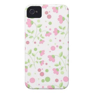 花のIphoneピンクの敏感な4Sの場合 Case-Mate iPhone 4 ケース