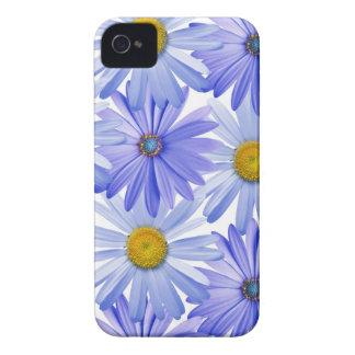花のIphone青く敏感な4Sの箱 Case-Mate iPhone 4 ケース