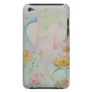 花のiPodカバーの中のハート Case-Mate iPod Touch ケース
