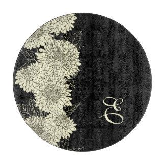 花のMopnogramパターンまな板 カッティングボード
