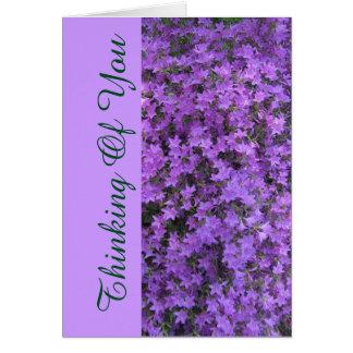 """花のnotecard、""""あなた""""の考えること/purpleのrhodod カード"""