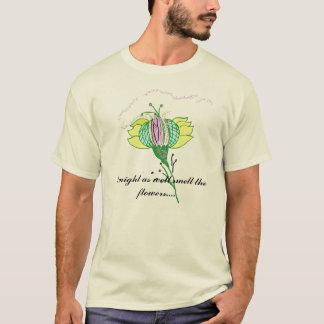 花のTシャツをかいで下さい Tシャツ