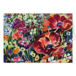 花は元の水彩画の挨拶を踊ることができます。 カード