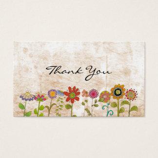 花は感謝していしています 名刺