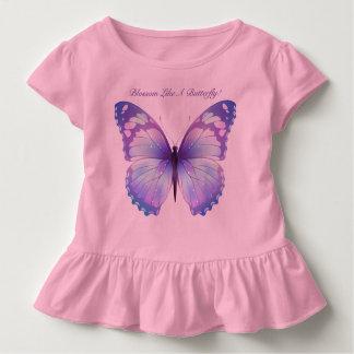 花は蝶を好みます トドラーTシャツ