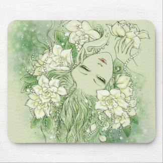 花びらおよび真珠のマウスパッド マウスパッド