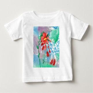 花びらのaceoの乳児のTシャツを雨が降ること ベビーTシャツ