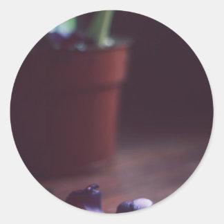 花びらを投げて下さい 丸型シール
