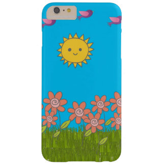 花または日曜日または鳥のiPhoneの場合 Barely There iPhone 6 Plus ケース
