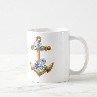 花を持ついかり コーヒーマグカップ