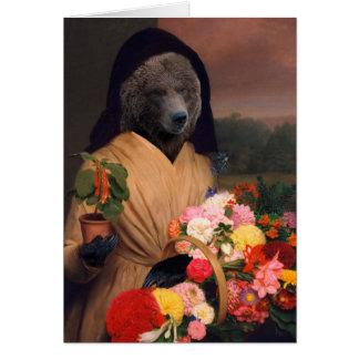 花を持つくま-人間の形をした合成物 カード
