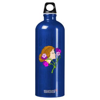 花を持つアールヌーボーの美しい女性 SIGG トラベラー 1.0L ウォーターボトル