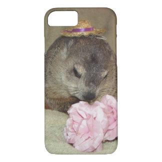 花を持つペットGroundhogクララ iPhone 7ケース