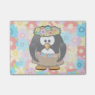 花を持つ漫画のフラのペンギン ポストイット