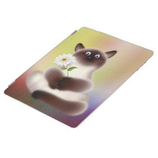 花を持つ猫 iPadスマートカバー