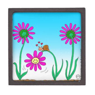 花を持つ763ロマンチックなかたつむり ギフトボックス