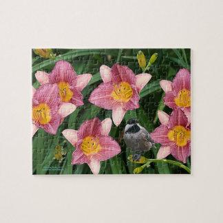 花を持つ《鳥》アメリカゴガラ- ジグソーパズル