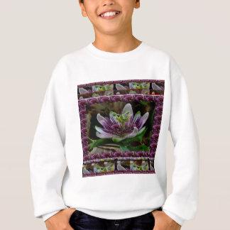花エレガントでエキゾチックな花のテンプレートDIYのギフト スウェットシャツ