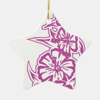 花タワーの紫色 セラミックオーナメント