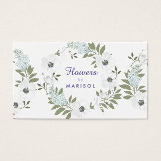 花デザイナー花屋の名刺のテンプレート 名刺