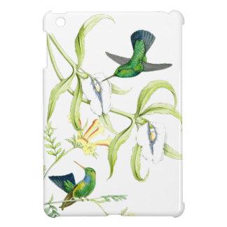 花ハチドリの鳥の花の野性生物動物 iPad MINIカバー
