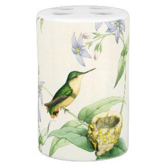 花ハチドリの鳥の野性生物動物の花 バスセット