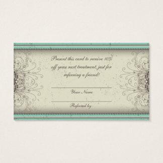 花パターンダマスク織のエレガントな紹介カード 名刺
