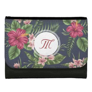 花パターンハイビスカスのモノグラムの財布