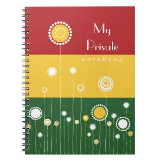 花パターン私の自身の私用ノート ノートブック