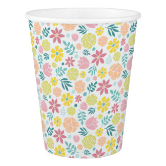 花パターン 紙コップ