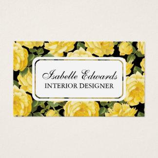 花パターンelegentヴィンテージのばら色の名刺 名刺