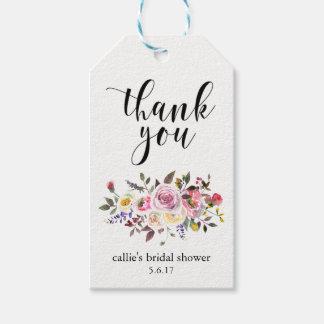 花パーティの記念品のためのブライダルシャワーのギフトのラベル ギフトタグ