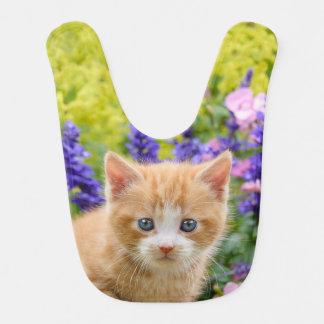 花ペットのかわいく柔らかいショウガのベビー猫の子ネコ ベビービブ
