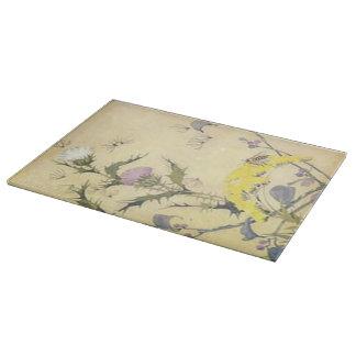 花ヴィンテージの野生の花のタンポポ カッティングボード