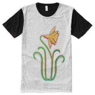 花低価格NOVINOのエレガントな花 オールオーバープリントT シャツ