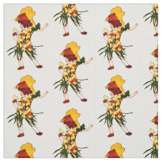 花児童SNAP-DRAGONの花の妖精パターン ファブリック